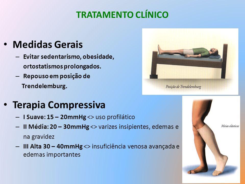 Medidas Gerais Terapia Compressiva TRATAMENTO CLÍNICO