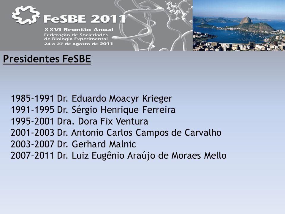 Presidentes FeSBE 1985-1991 Dr. Eduardo Moacyr Krieger