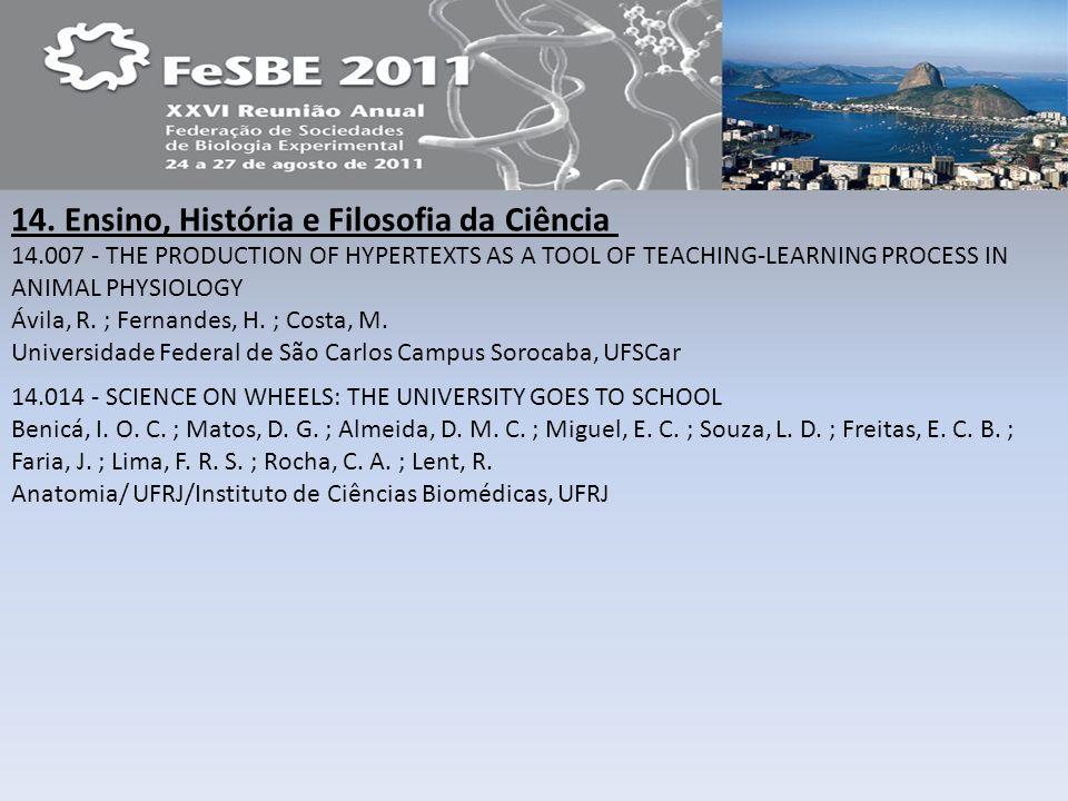 14. Ensino, História e Filosofia da Ciência