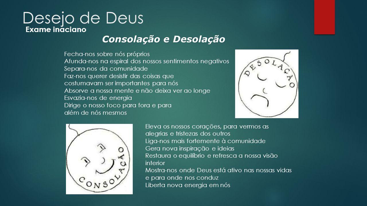 Desejo de Deus Consolação e Desolação Exame inaciano