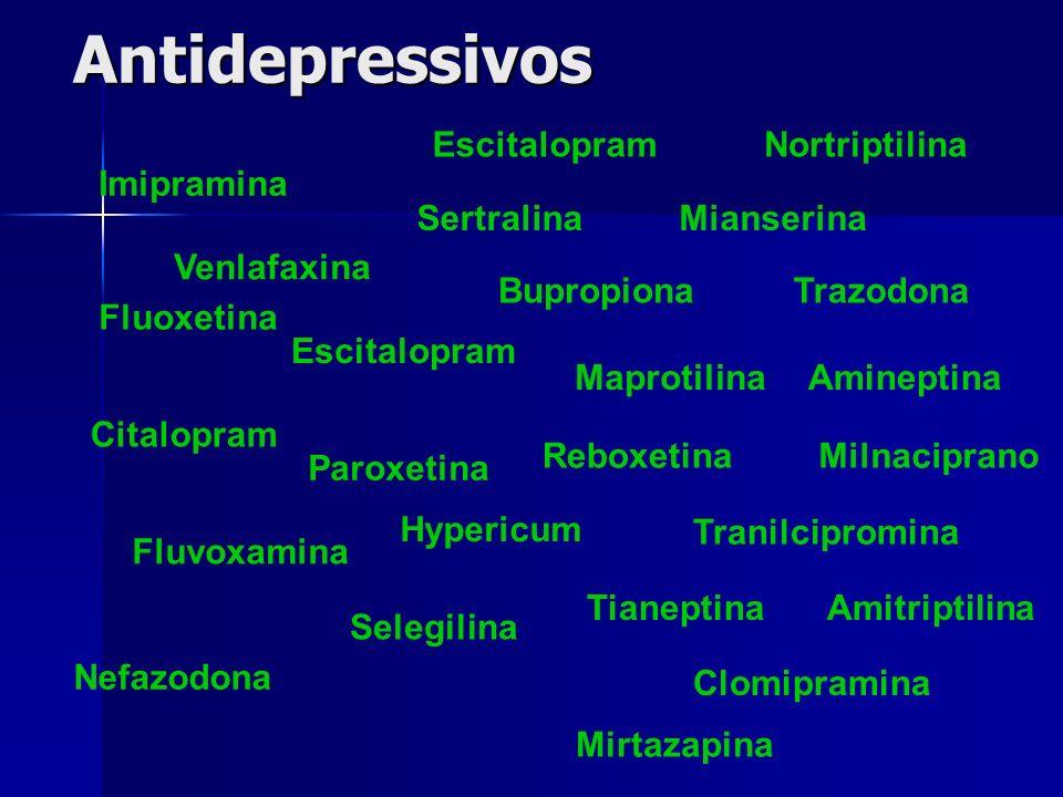 Antidepressivos Escitalopram Nortriptilina Imipramina Sertralina