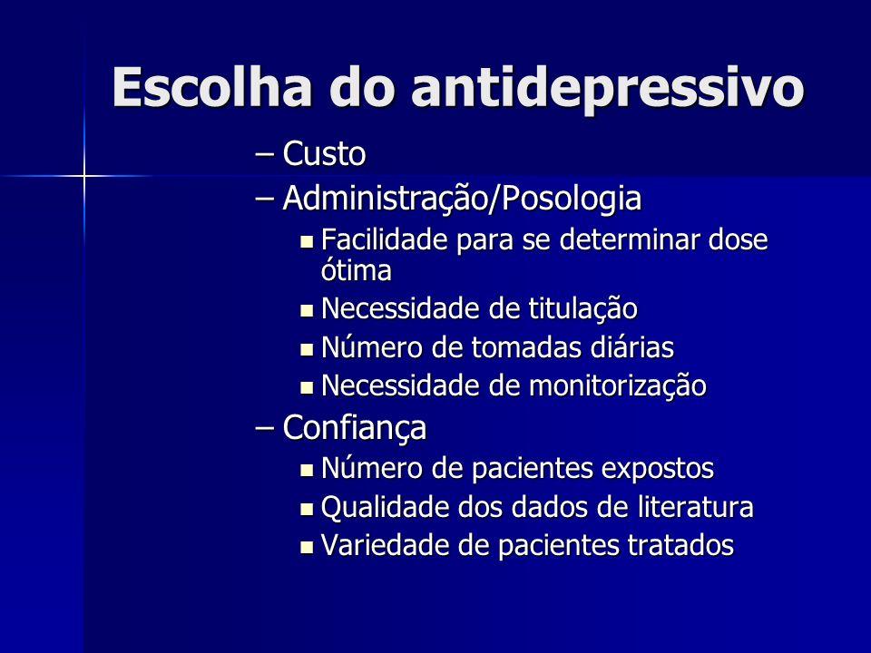 Escolha do antidepressivo