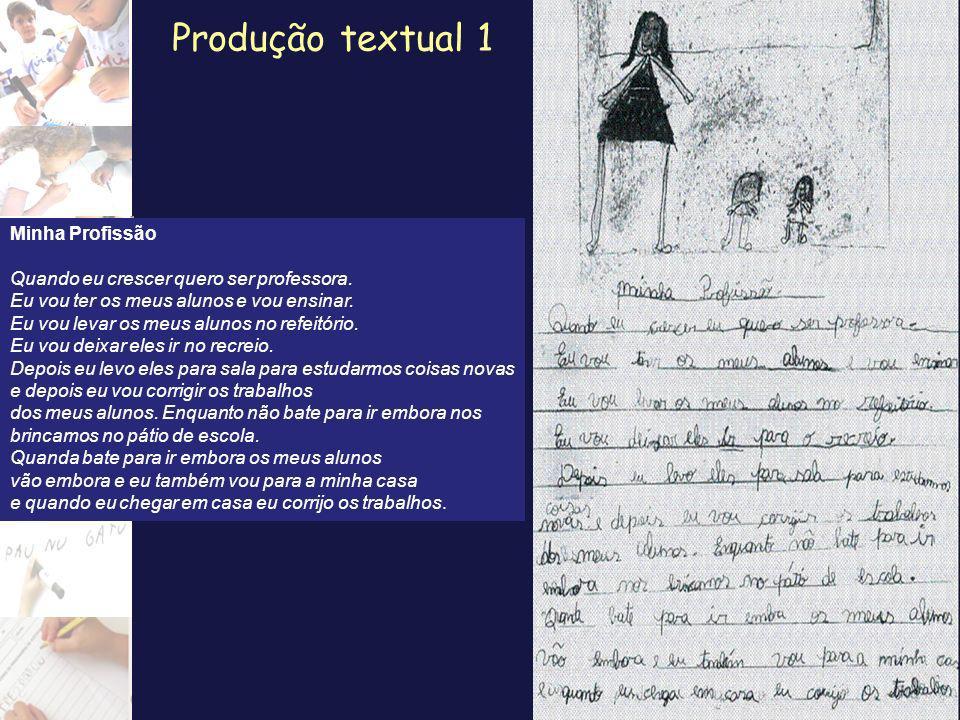 Produção textual 1 Minha Profissão