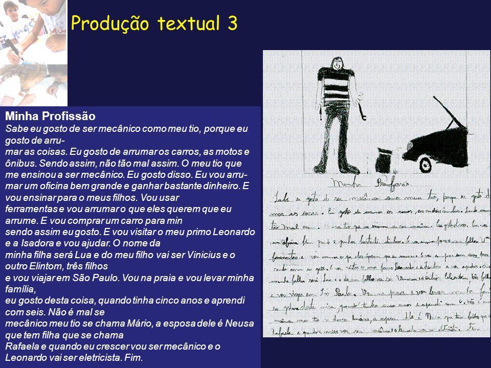 Produção textual 3 Minha Profissão