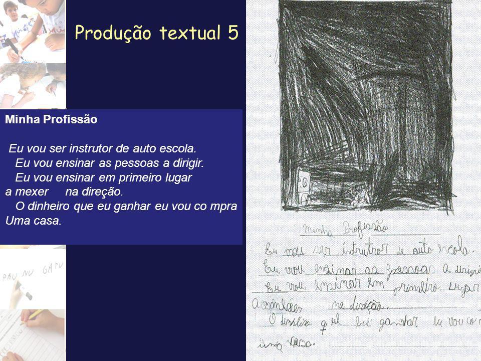 Produção textual 5 Minha Profissão