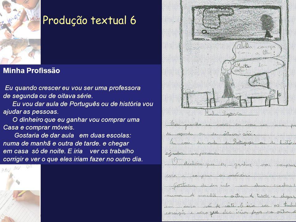 Produção textual 6 Minha Profissão