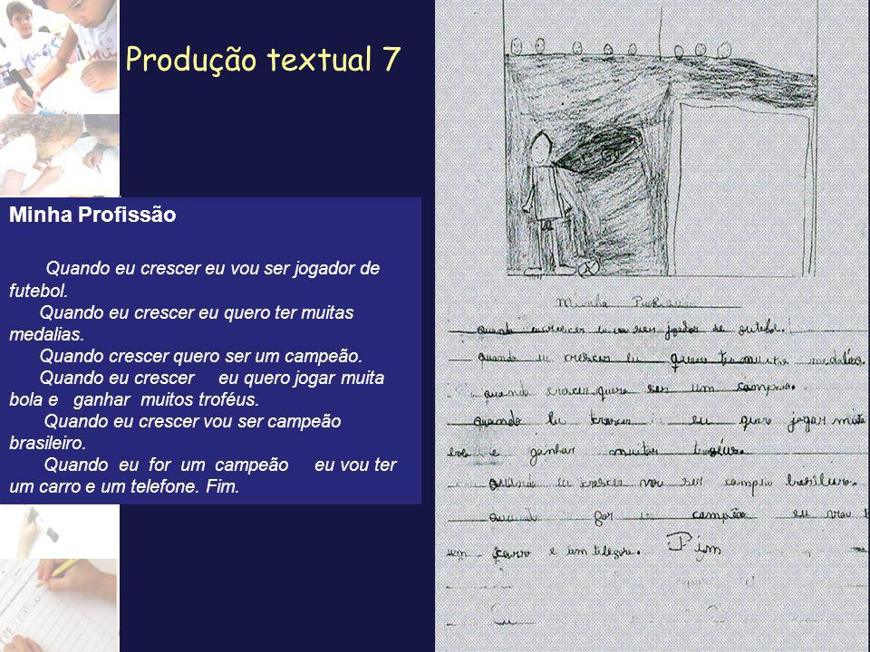 Produção textual 7 Minha Profissão