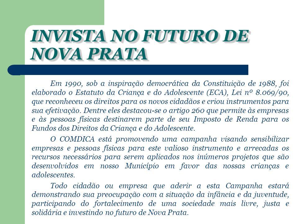 INVISTA NO FUTURO DE NOVA PRATA