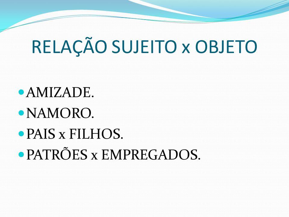 RELAÇÃO SUJEITO x OBJETO