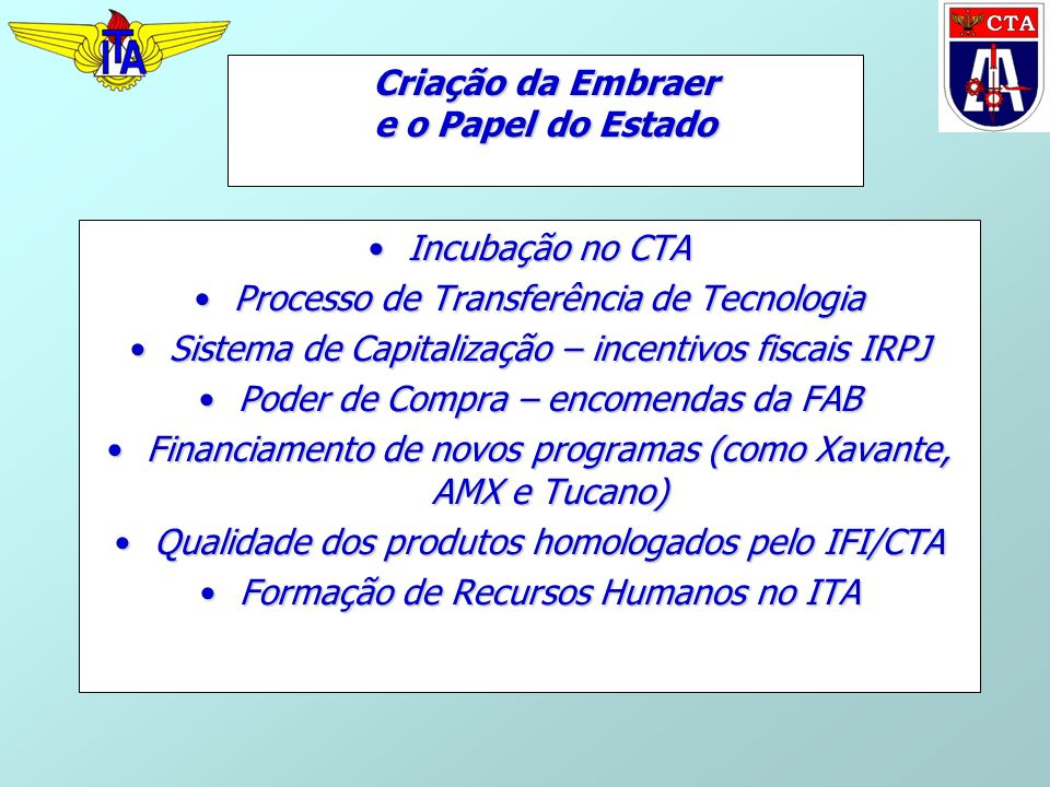 Criação da Embraer e o Papel do Estado