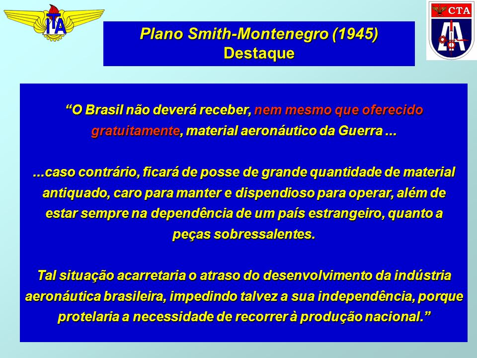 Plano Smith-Montenegro (1945) Destaque