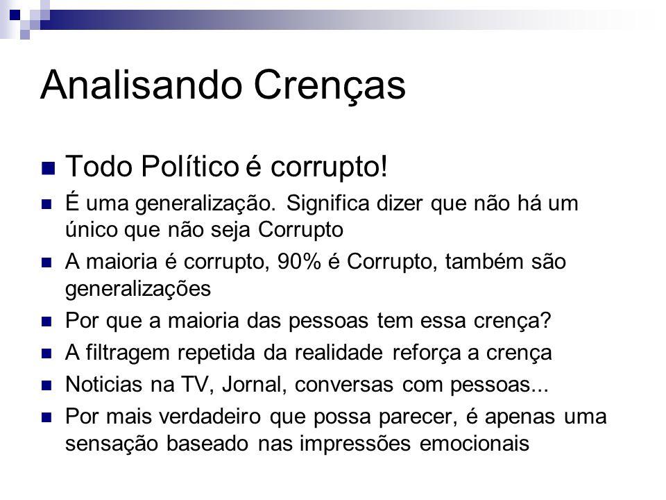 Analisando Crenças Todo Político é corrupto!
