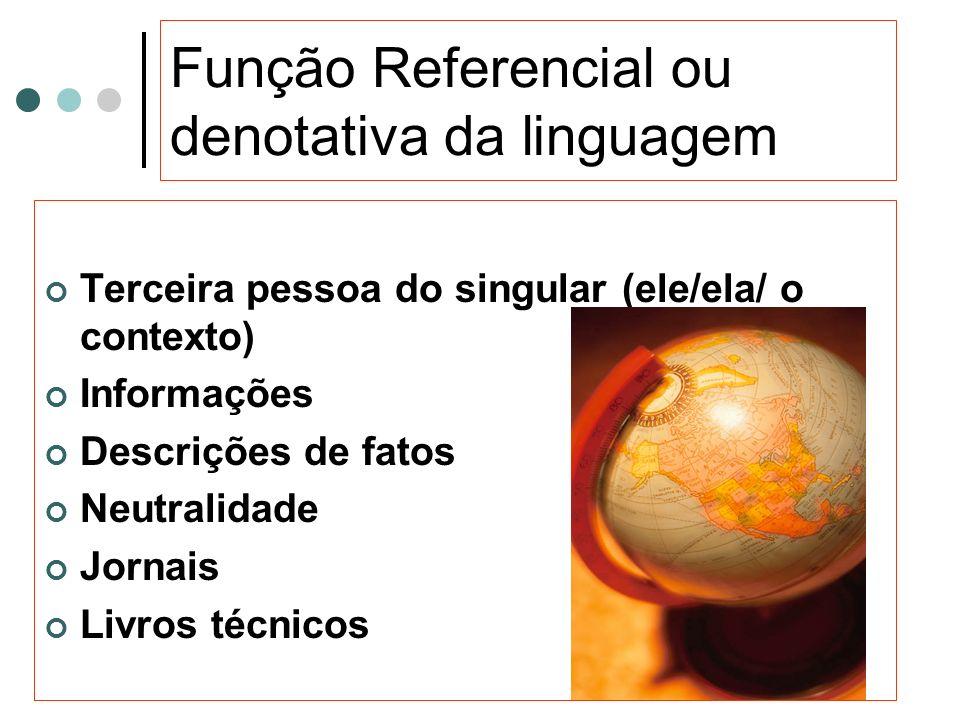 Função Referencial ou denotativa da linguagem
