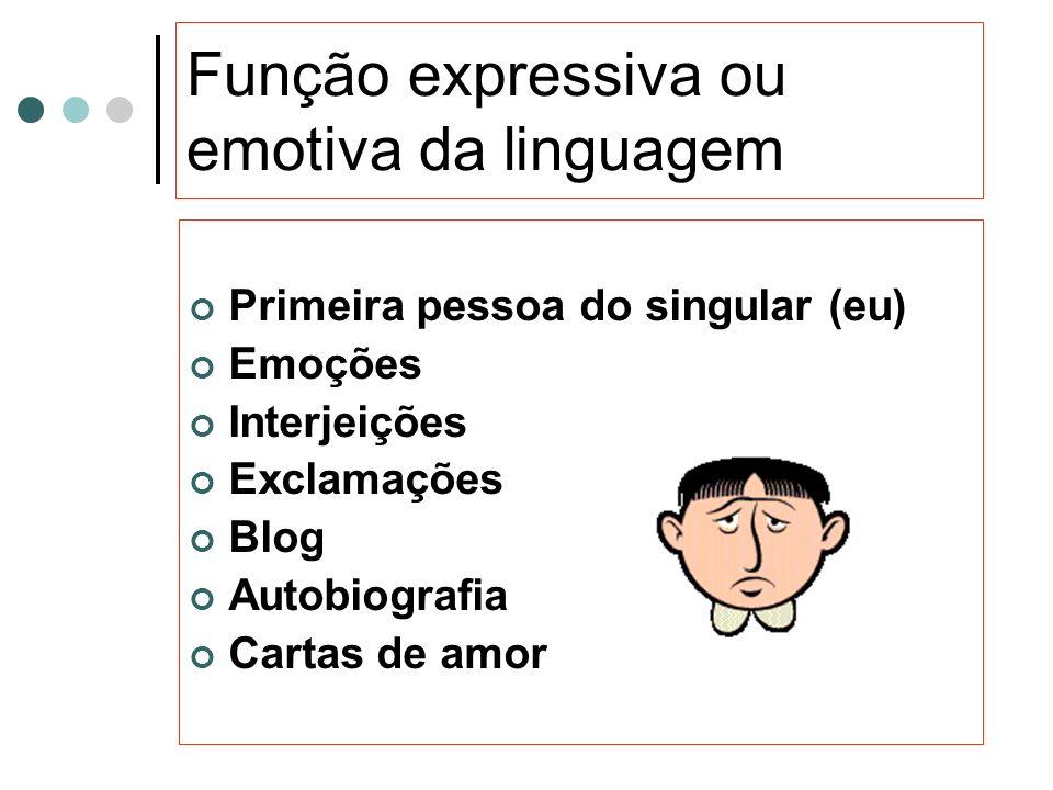 Função expressiva ou emotiva da linguagem