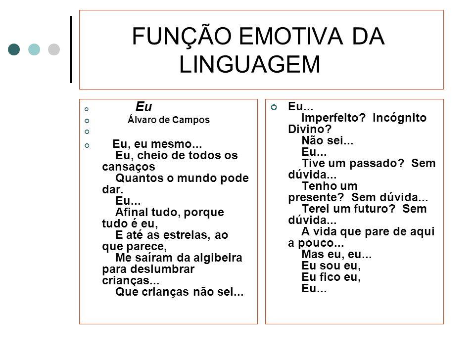 FUNÇÃO EMOTIVA DA LINGUAGEM
