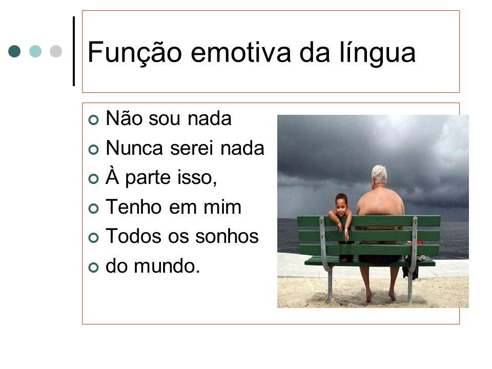 Função emotiva da língua