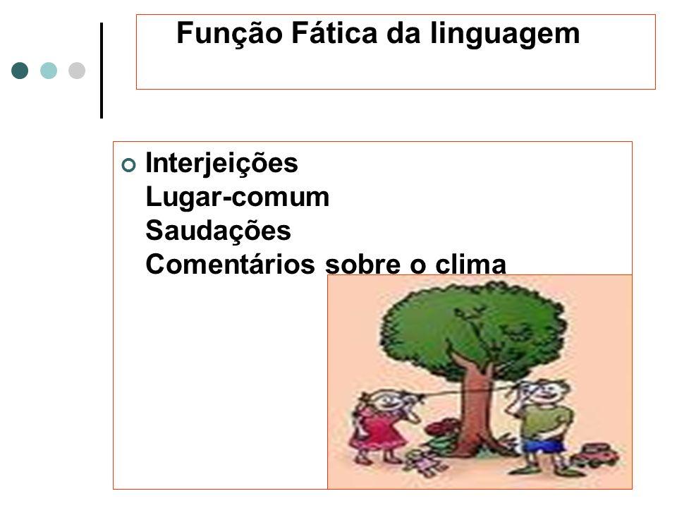 Função Fática da linguagem