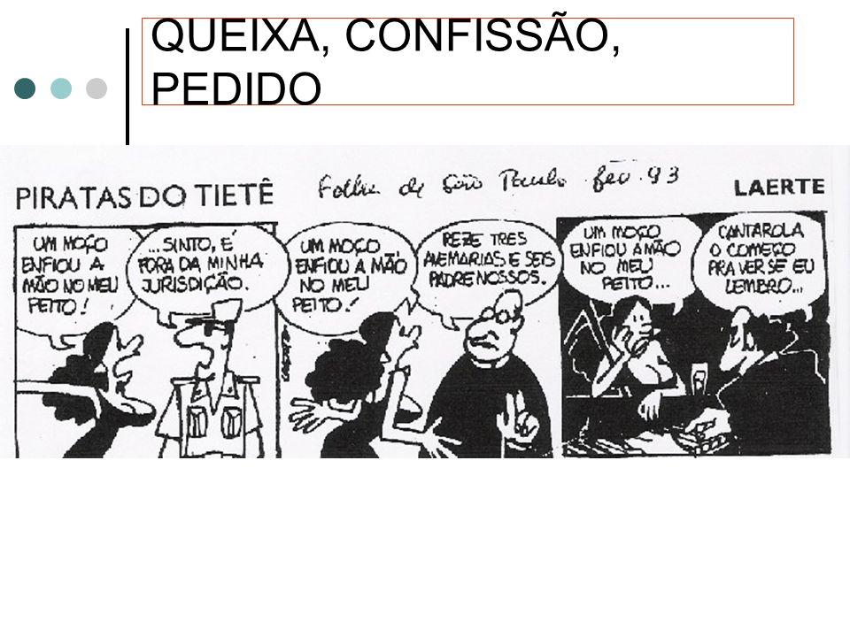 QUEIXA, CONFISSÃO, PEDIDO