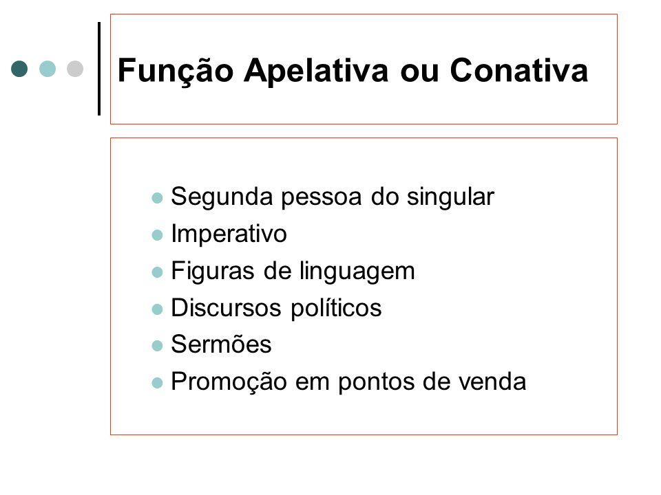 Função Apelativa ou Conativa