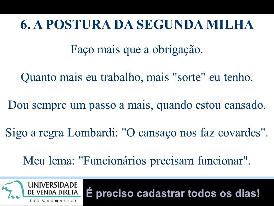 6. A POSTURA DA SEGUNDA MILHA