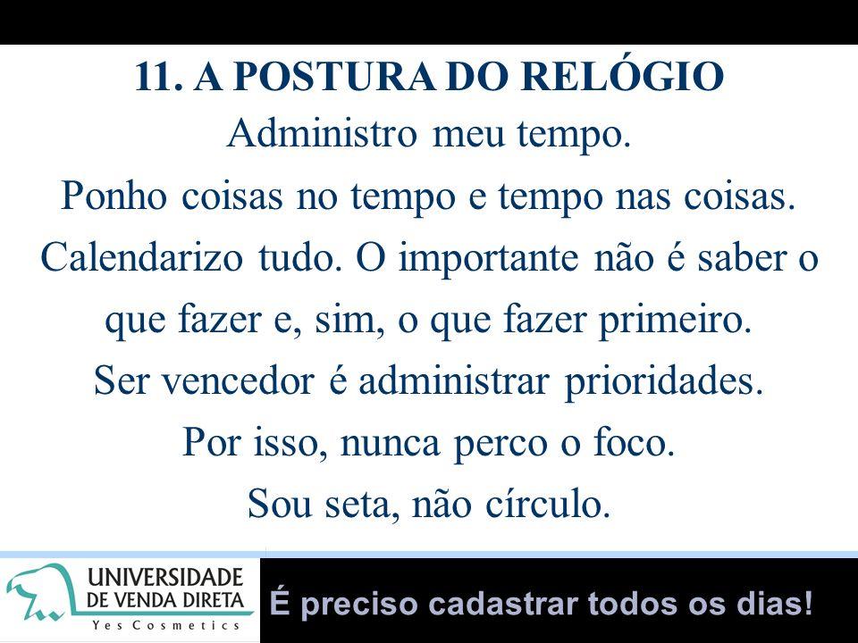 11. A POSTURA DO RELÓGIO
