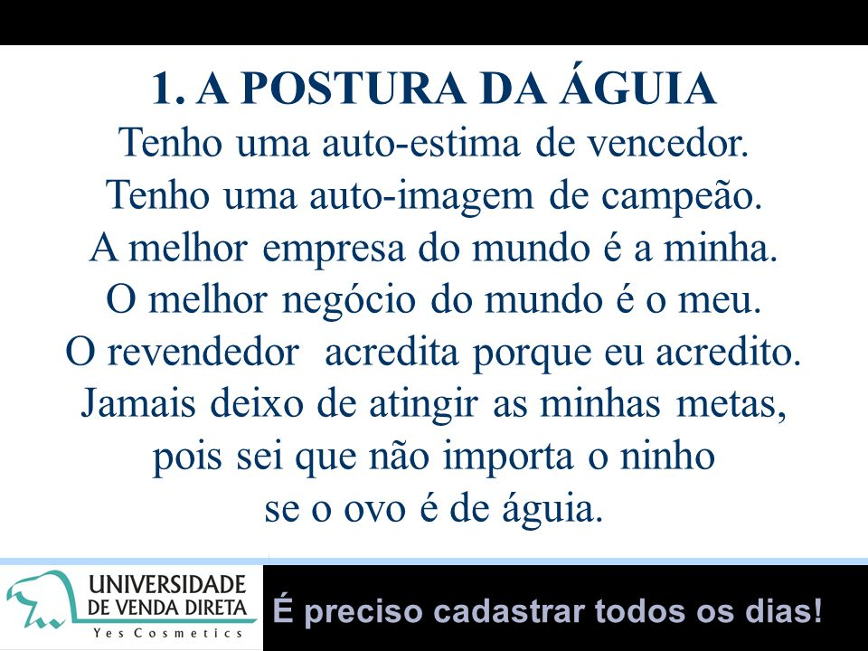 1. A POSTURA DA ÁGUIA