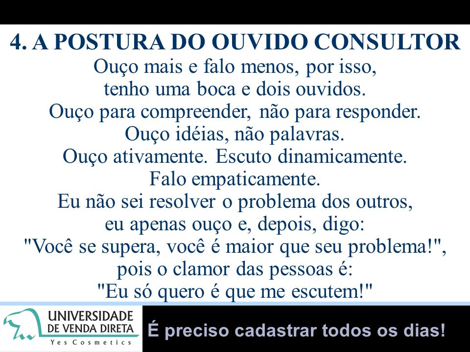 4. A POSTURA DO OUVIDO CONSULTOR