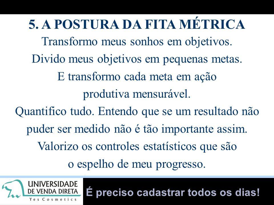 5. A POSTURA DA FITA MÉTRICA