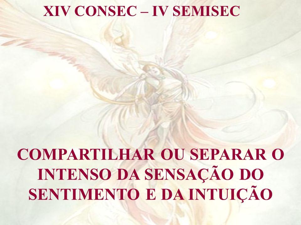 XIV CONSEC – IV SEMISEC COMPARTILHAR OU SEPARAR O INTENSO DA SENSAÇÃO DO SENTIMENTO E DA INTUIÇÃO