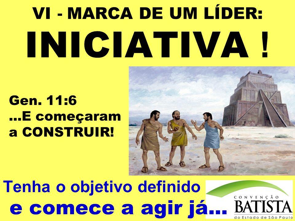 VI - MARCA DE UM LÍDER: INICIATIVA !