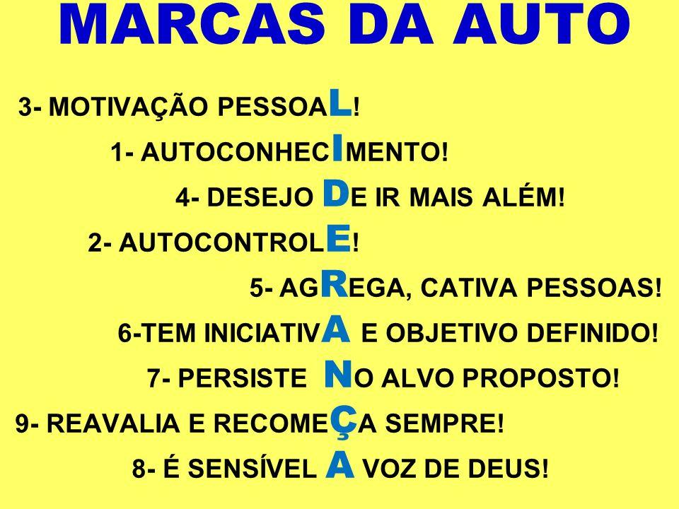 MARCAS DA AUTO 3- MOTIVAÇÃO PESSOAL. 1- AUTOCONHECIMENTO