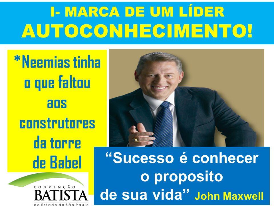 I- MARCA DE UM LÍDER AUTOCONHECIMENTO!