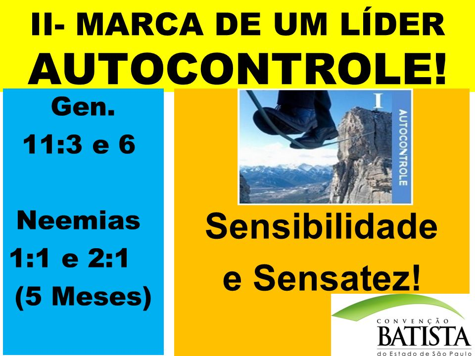 II- MARCA DE UM LÍDER AUTOCONTROLE!