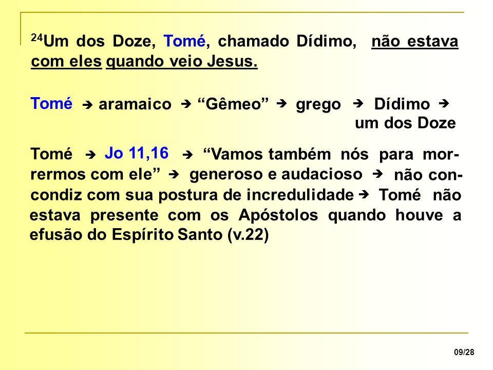 Vamos também nós para mor- rermos com ele Tomé Jo 11,16