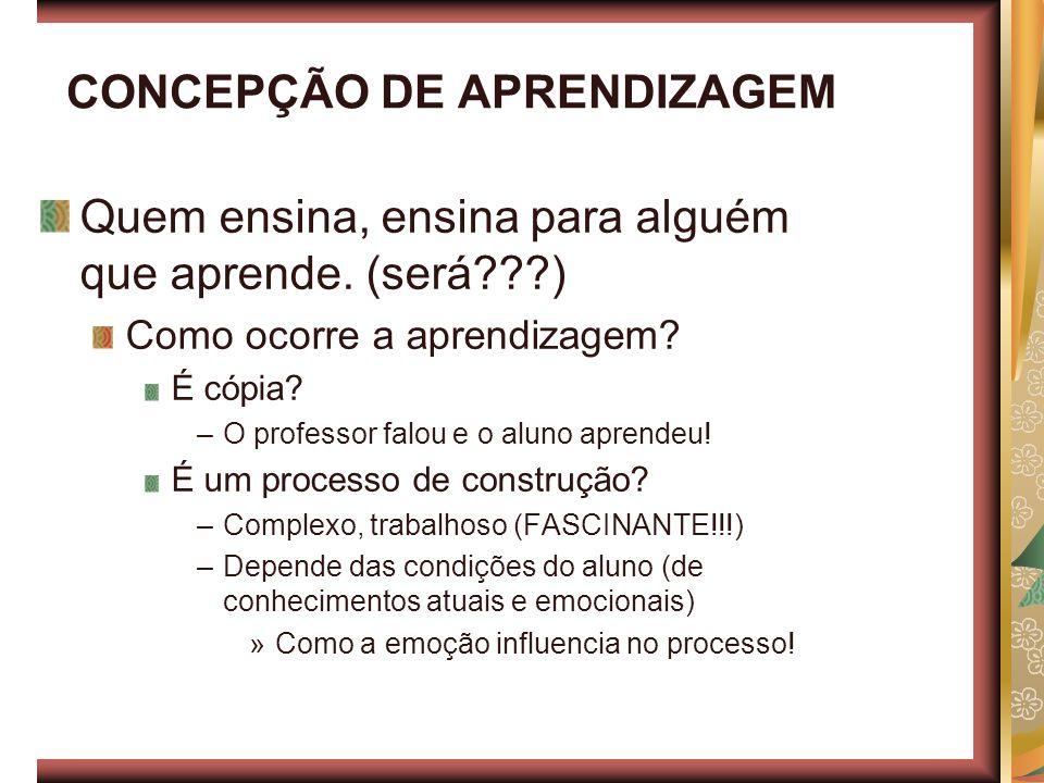 CONCEPÇÃO DE APRENDIZAGEM