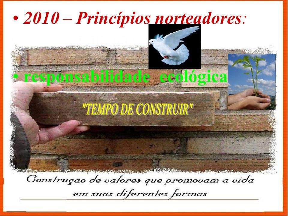 2010 – Princípios norteadores:
