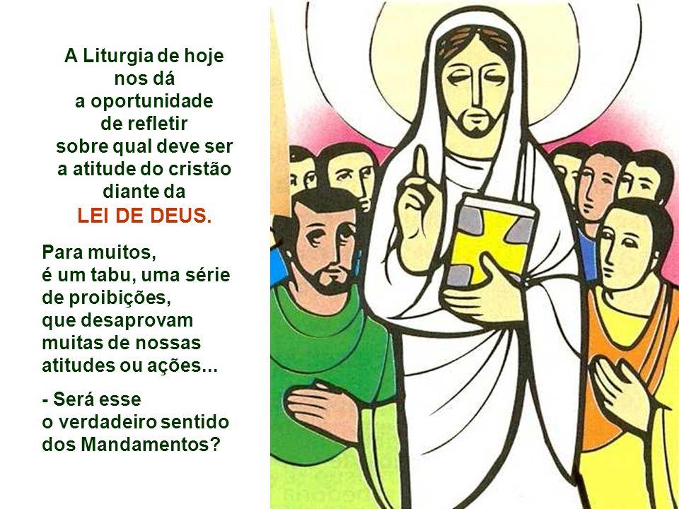 A Liturgia de hoje nos dá a atitude do cristão diante da