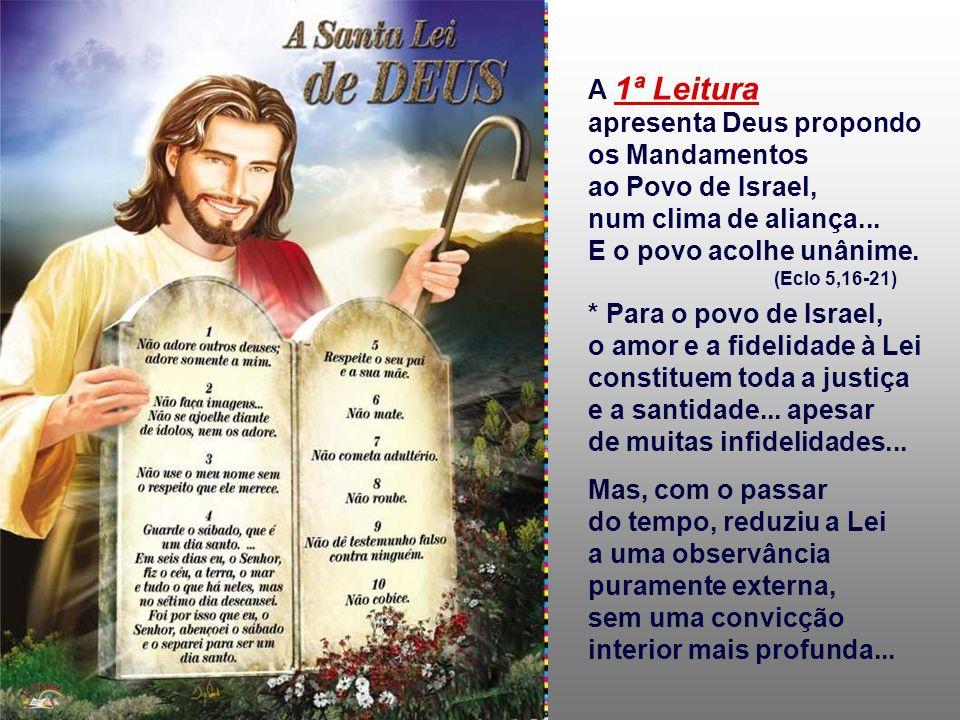 apresenta Deus propondo os Mandamentos ao Povo de Israel,