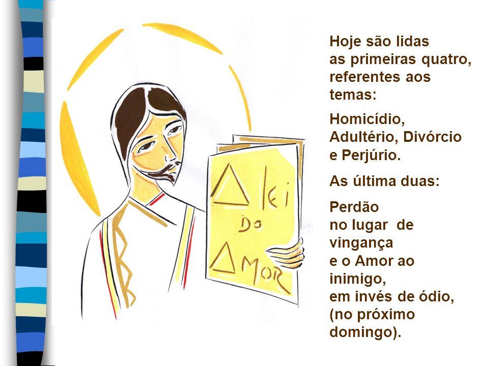 Hoje são lidas as primeiras quatro, referentes aos temas: Homicídio, Adultério, Divórcio e Perjúrio.
