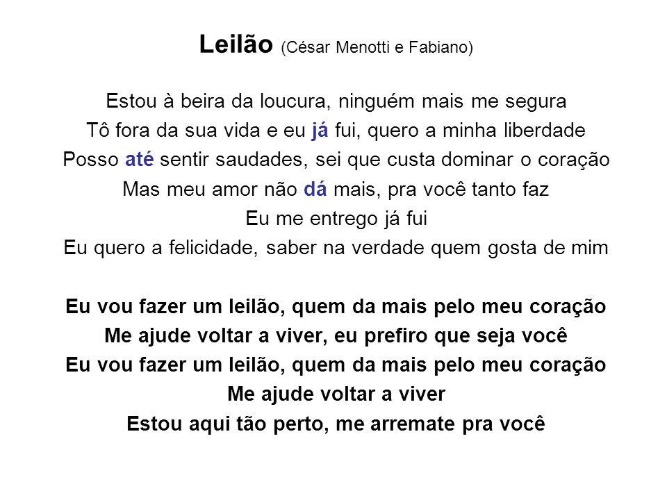 Leilão (César Menotti e Fabiano)