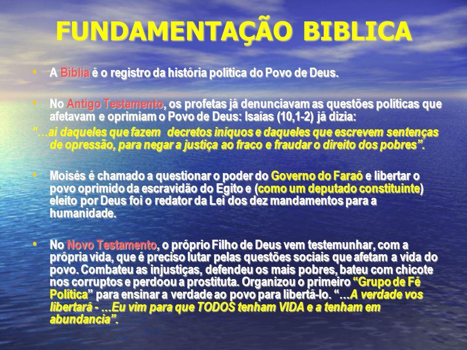 FUNDAMENTAÇÃO BIBLICA