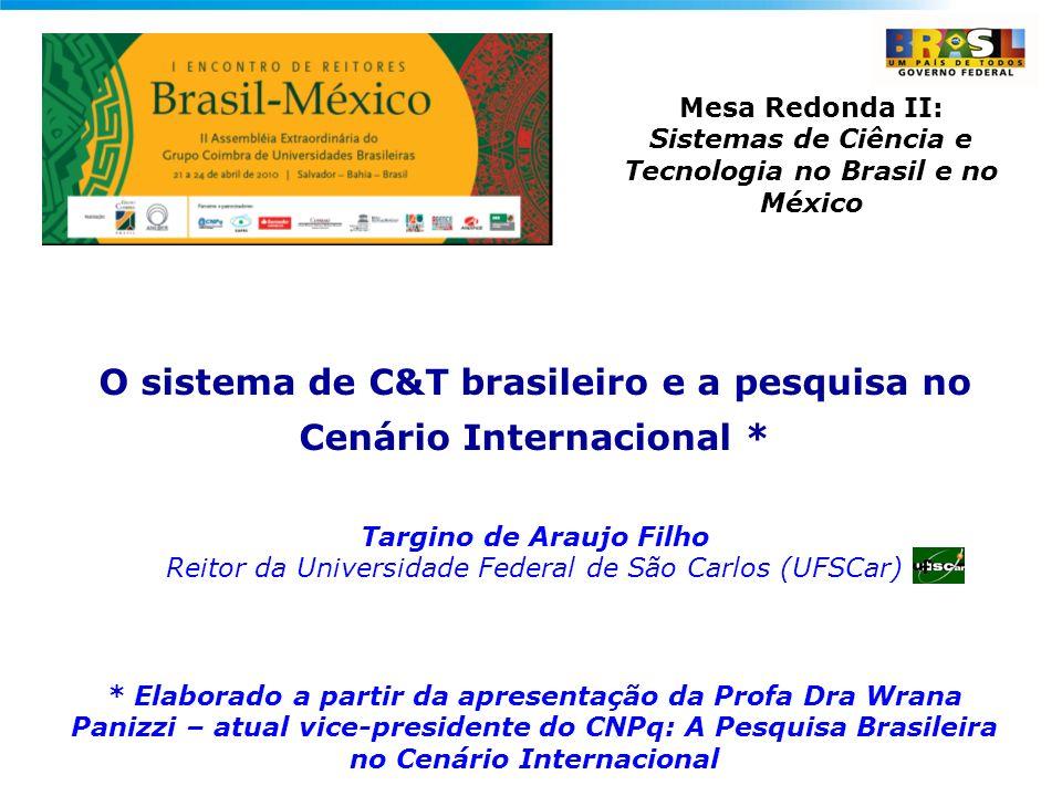 O sistema de C&T brasileiro e a pesquisa no Cenário Internacional *