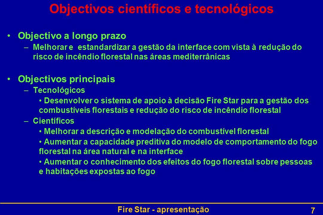Objectivos científicos e tecnológicos
