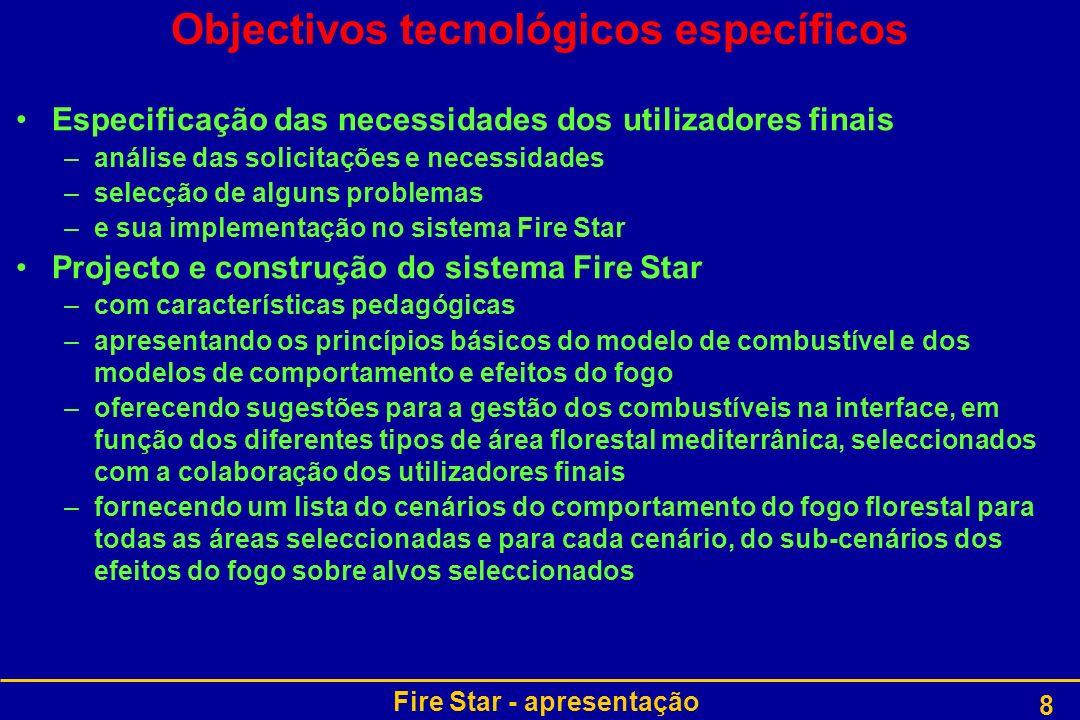 Objectivos tecnológicos específicos