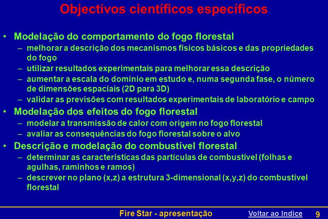 Objectivos científicos específicos