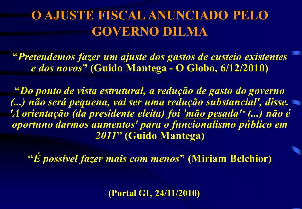 O AJUSTE FISCAL ANUNCIADO PELO GOVERNO DILMA