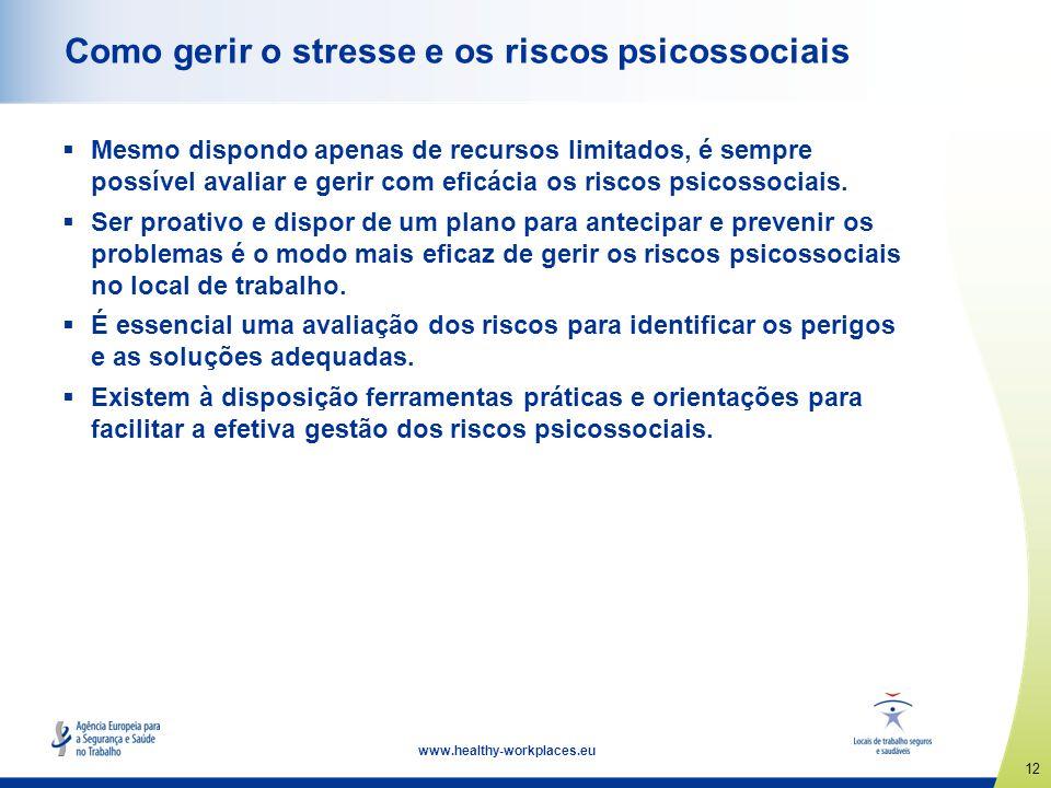 Como gerir o stresse e os riscos psicossociais