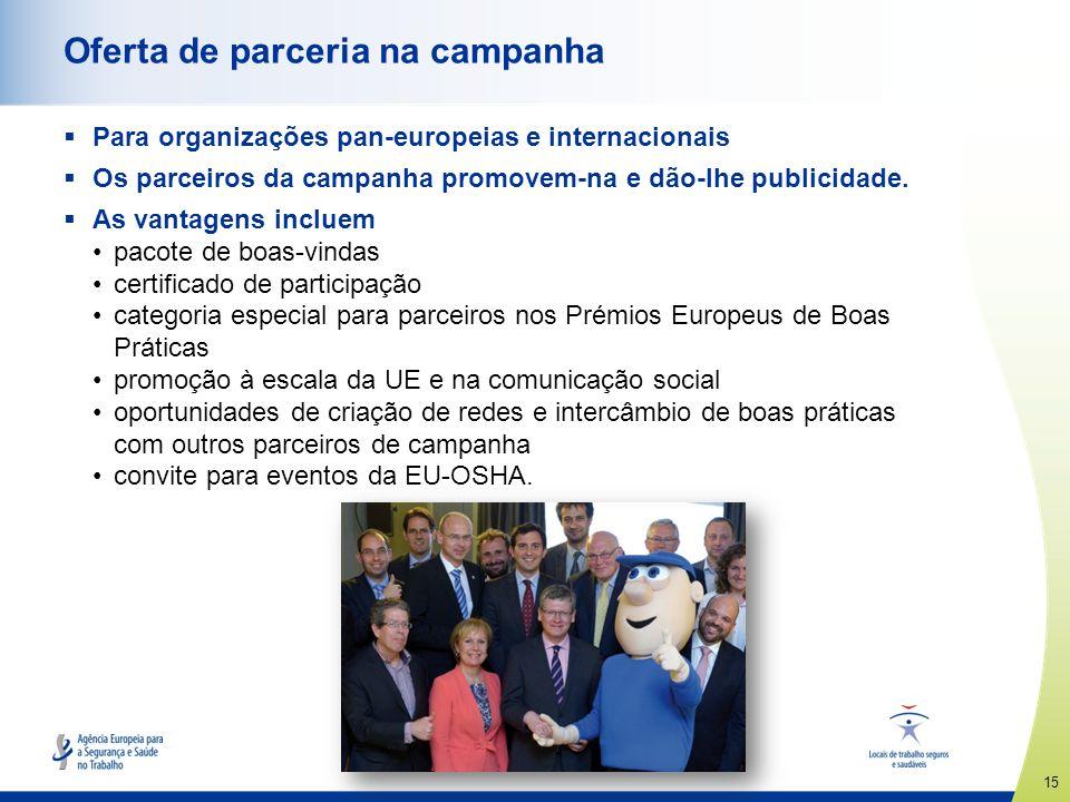 Oferta de parceria na campanha