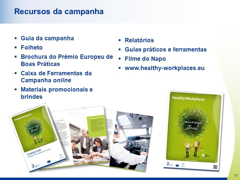 Recursos da campanha Guia da campanha Relatórios Folheto