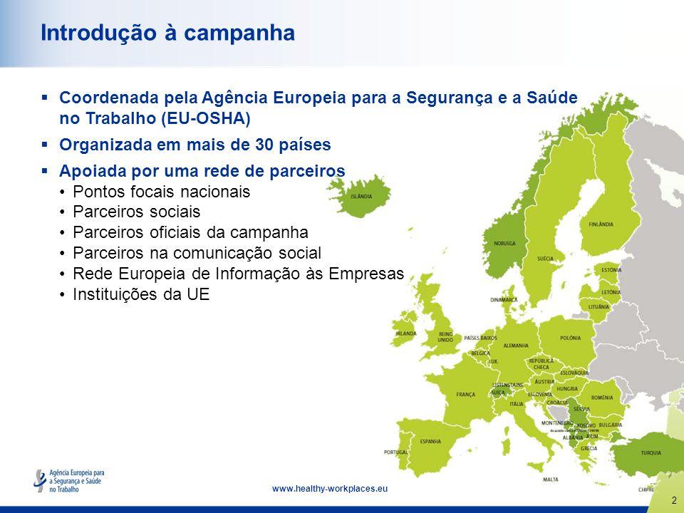 Introdução à campanha Coordenada pela Agência Europeia para a Segurança e a Saúde no Trabalho (EU-OSHA)
